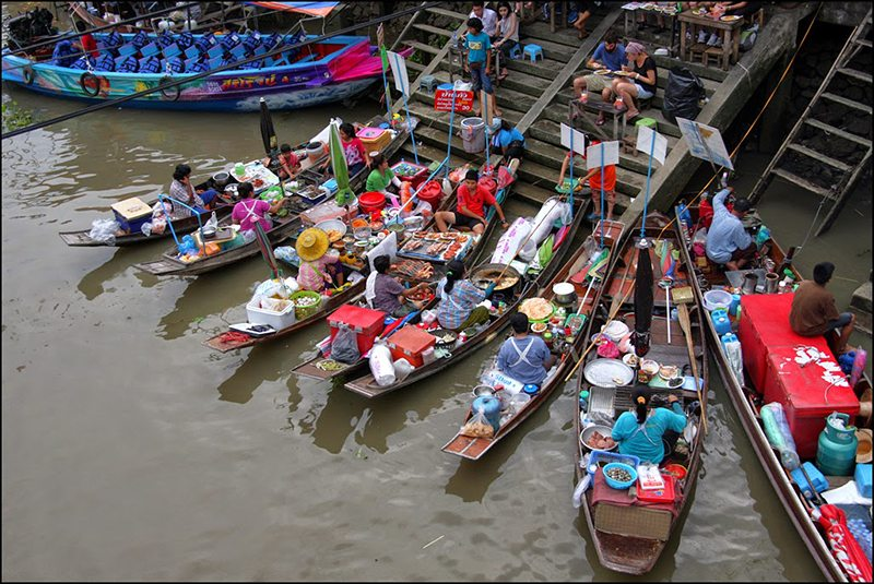 A Weekend Visiting Three Floating Markets In Bangkok, Thailand