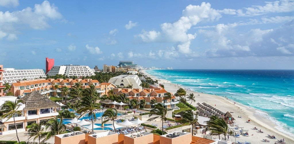 vacationing in Cancun Mexico