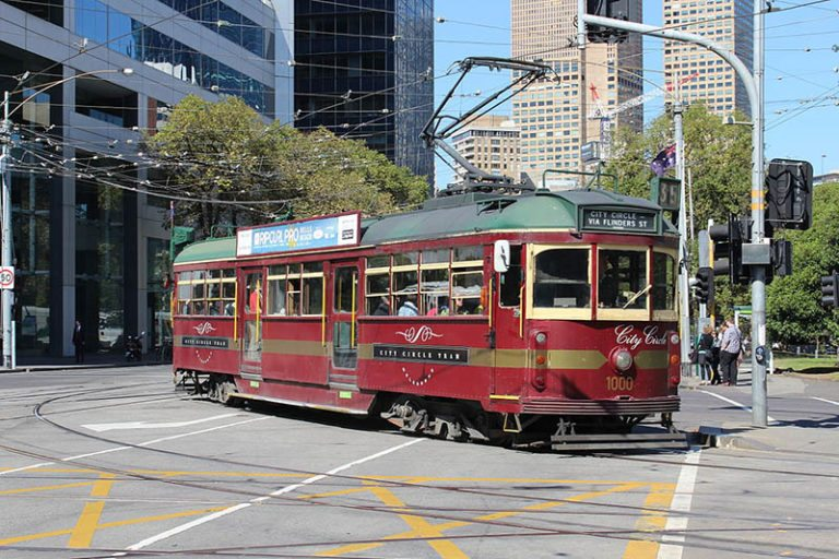 a tram and How to get around Melbourne