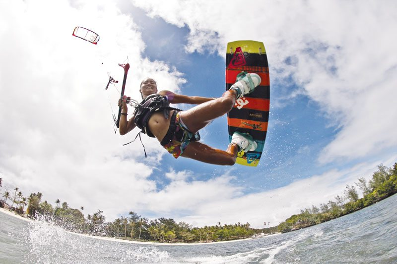 Kiteboarding at Bulabog